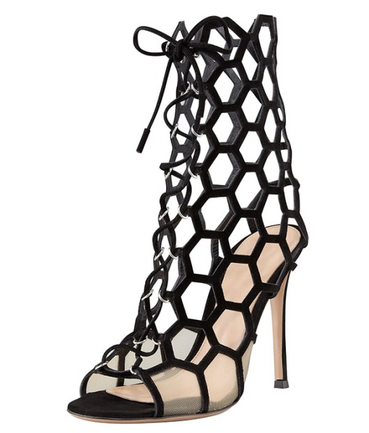 Gianvito-Rossi-Lace-Up-Honeycomb-Booties