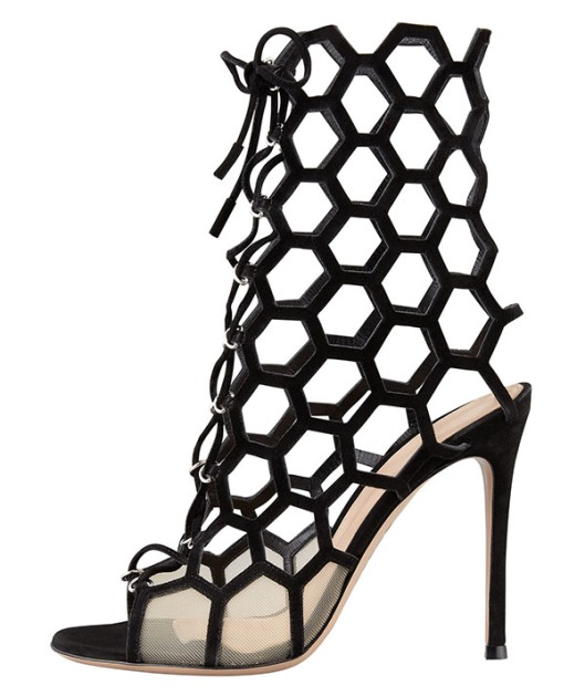 Gianvito-Rossi-Lace-Up-Honeycomb-Booties1