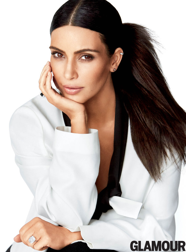 Kim-wearing-MM6-Maison-Margiela-jacket-pants-Eva-Fehren-ear